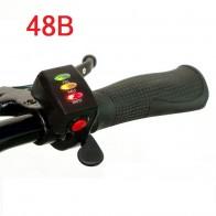 Ручка газа (курок) 48 В с индикацией заряда и кнопкой