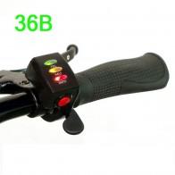Ручка газа (курок) 36 В с индикацией заряда и кнопкой