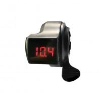 Ручка газа с индикатором напряжения батареи